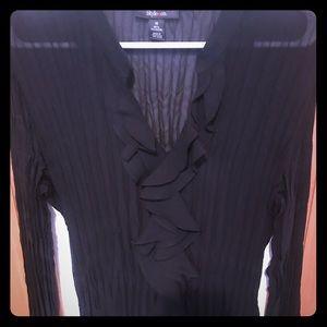 Lightweight long sleeve black blouse